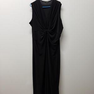 IMAN Black Maxi Dress Size 2X